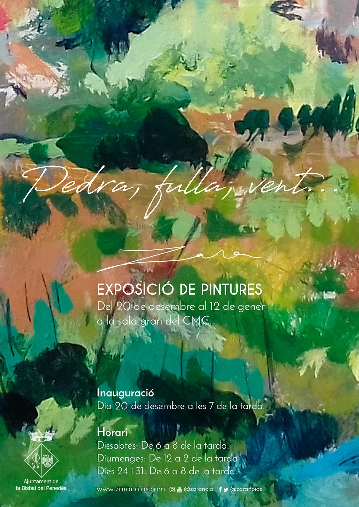 El dia 20 de desembre s'inaugura una exposició de pintura de l'artista local Zara