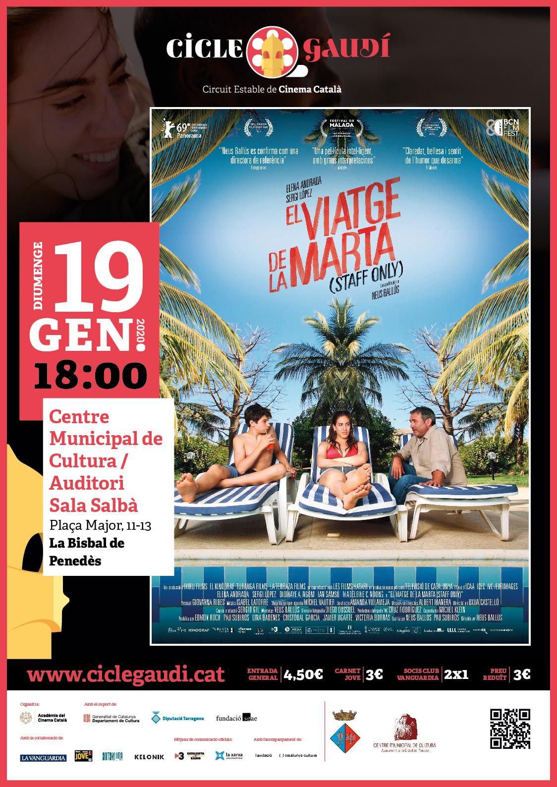 El diumenge 19 de gener a les 18h podreu veure la pel·lícula 'El viatge de la Marta' al CMC