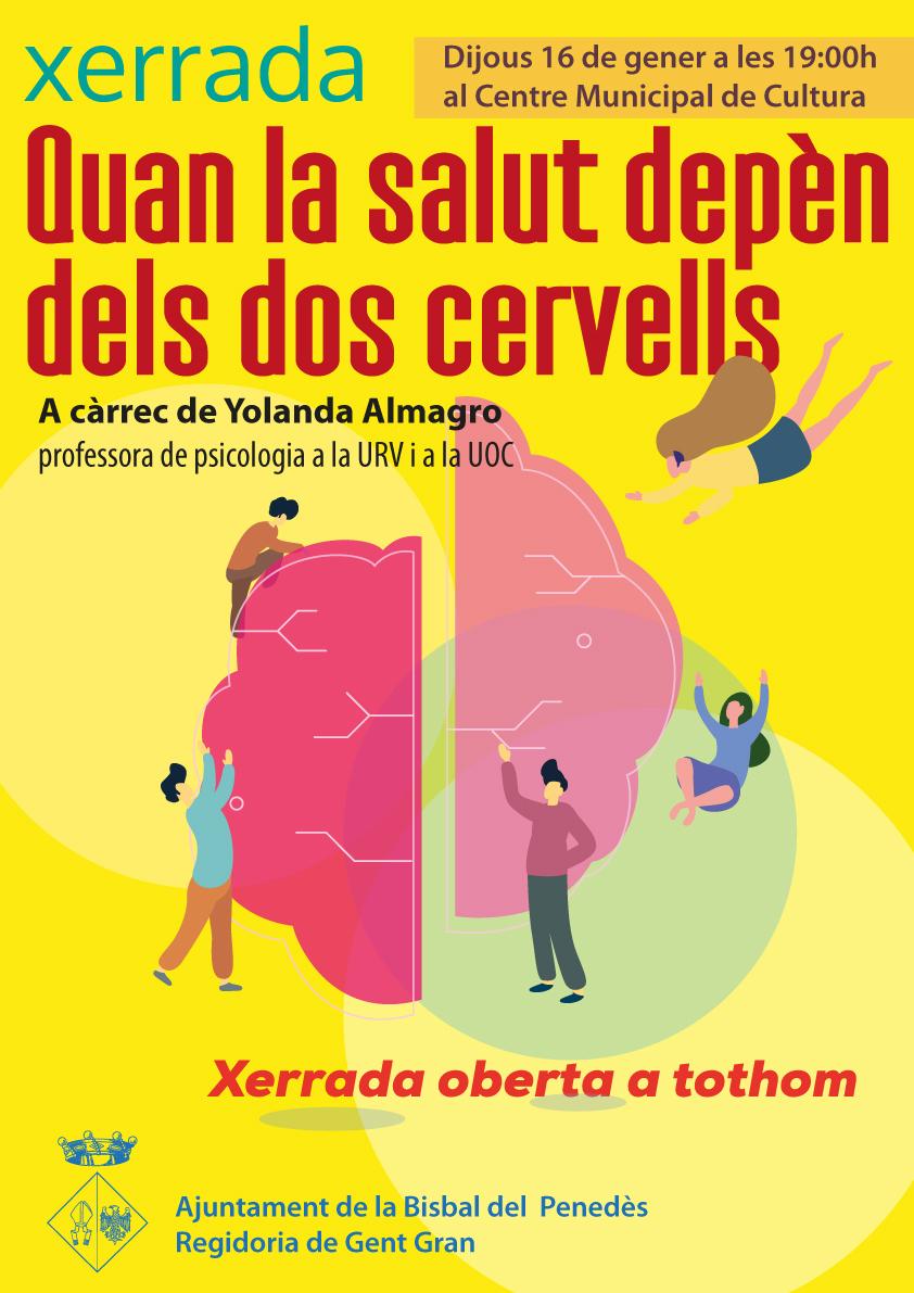 """El dijous 16 de gener, a les 19h, la professora Yolanda Almagro ens oferirà la xerrada """"Quan la salut depèn de dos cervells"""""""