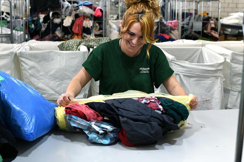 Humana ha recollit 9.968 kg de tèxtil usat a la Bisbal del Penedès durant el 2019