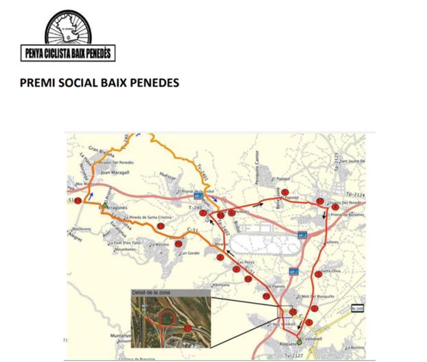 La X Cursa Social de la Penya Ciclista Baix Penedès passarà per la Bisbal aquest diumenge 16 de febrer