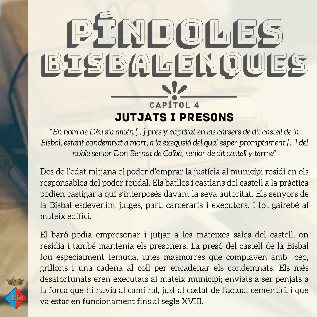 Nova entrega de les 'Píndoles bisbalenques': jutjats i presons