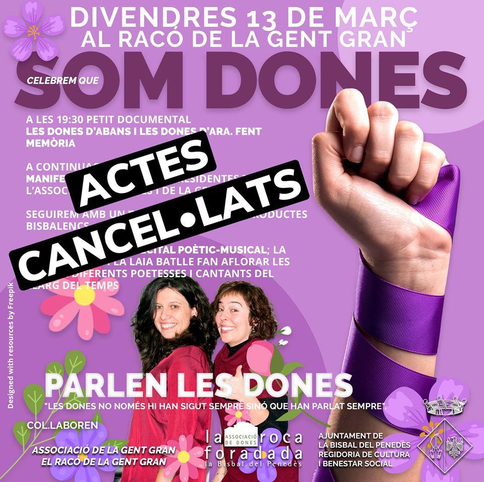 CANCEL·LAT -El divendres 13 de març el Racó de la Gent Gran acollirà diversos actes en el marc del Dia de les Dones