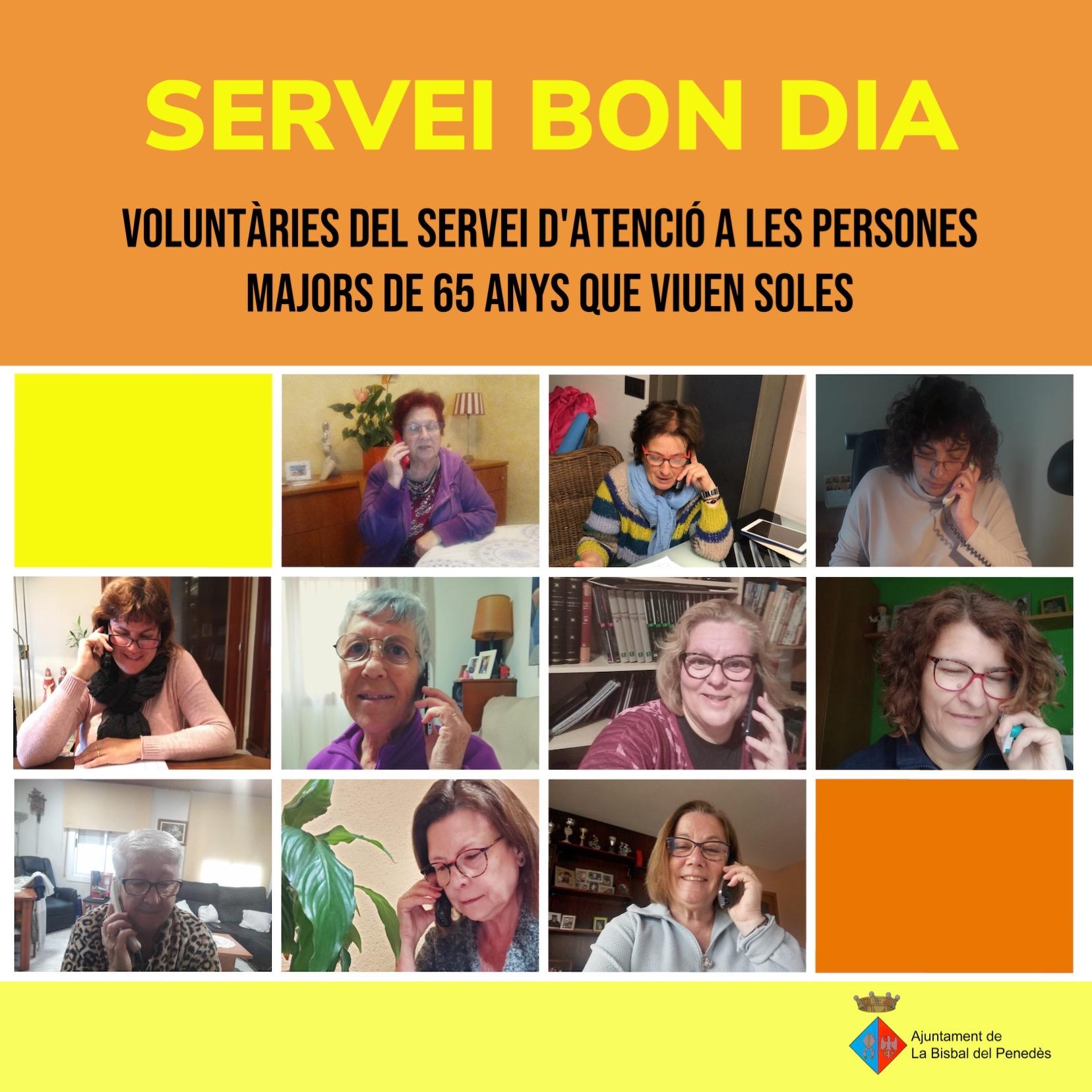Les voluntàries del Servei Bon Dia continuen realitzant trucades des de casa seva