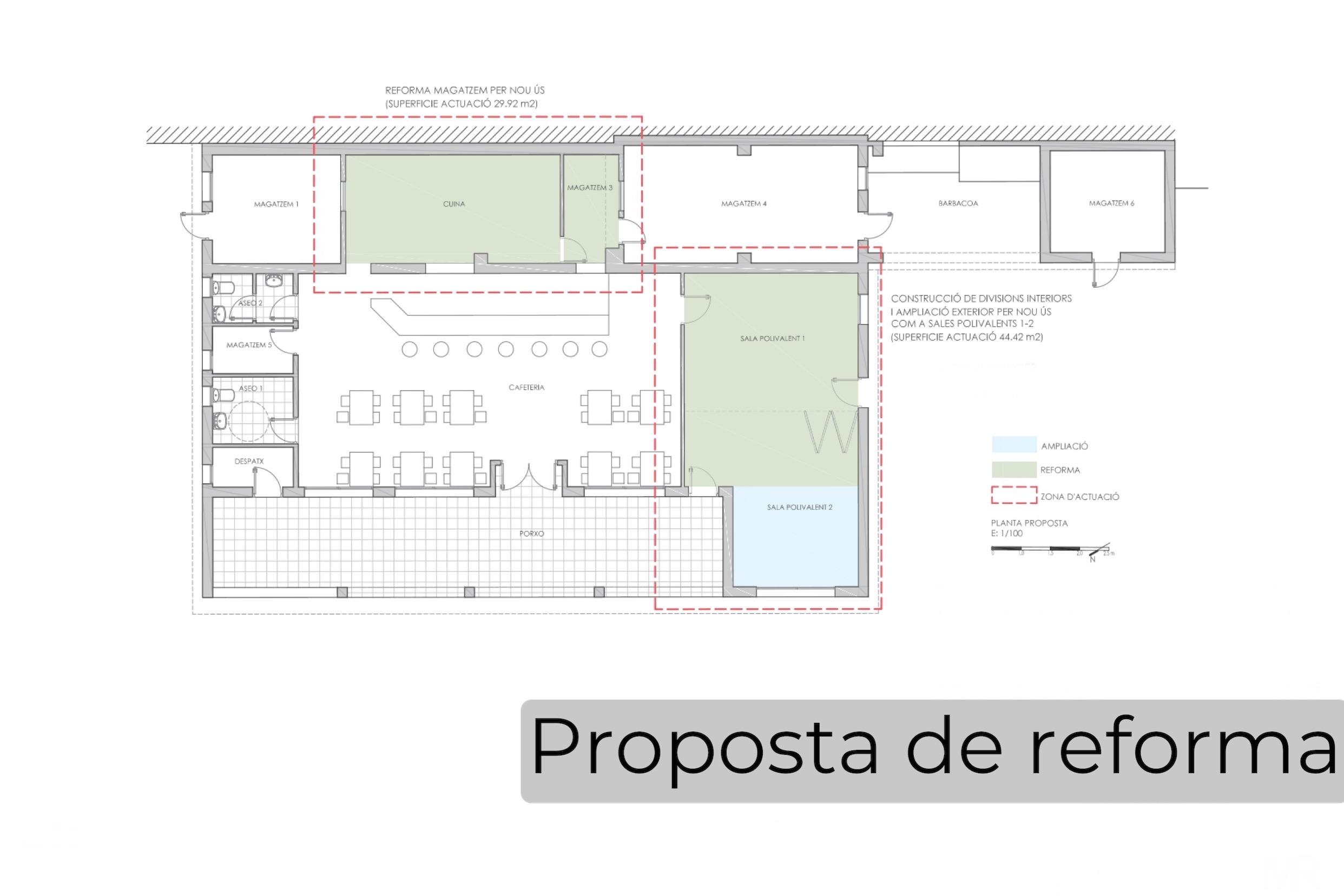 S'aprova inicialment el projecte de reforma del local social de l'Esplai