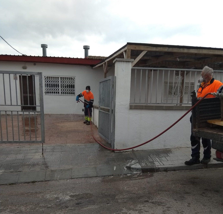 S'engega el servei de desinfecció de la via pública