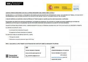 SOC SEPE VENDRELL COMUNICAT 16-03-20