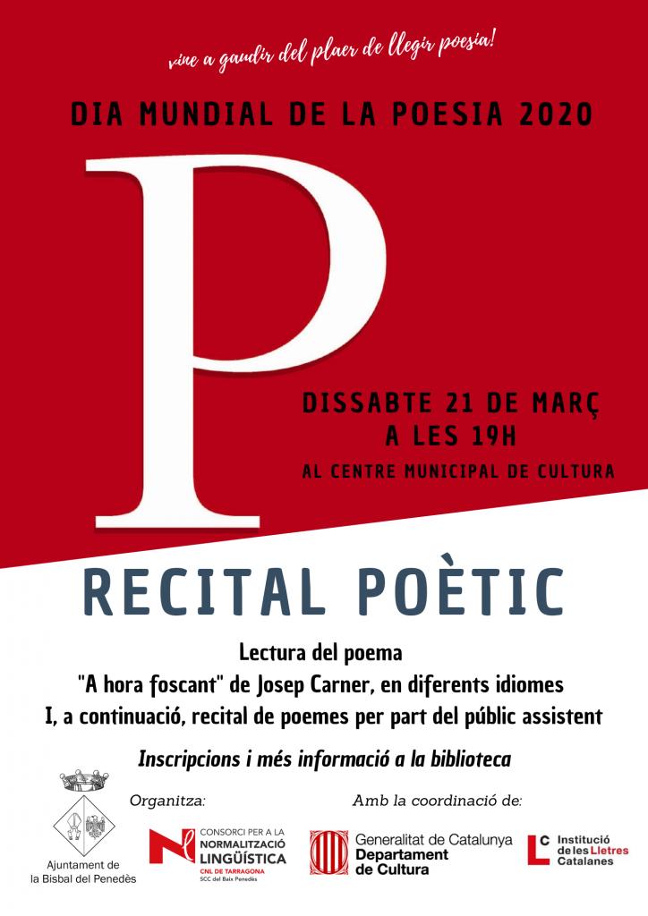 cartell dia mundial poesia 2020