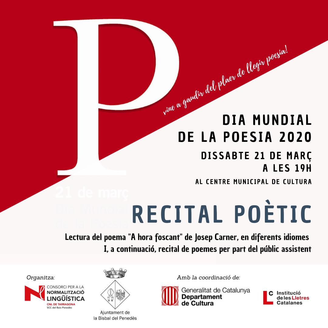 El dia 21 de març celebrarem el Dia de la poesia. Voleu llegir un poema?