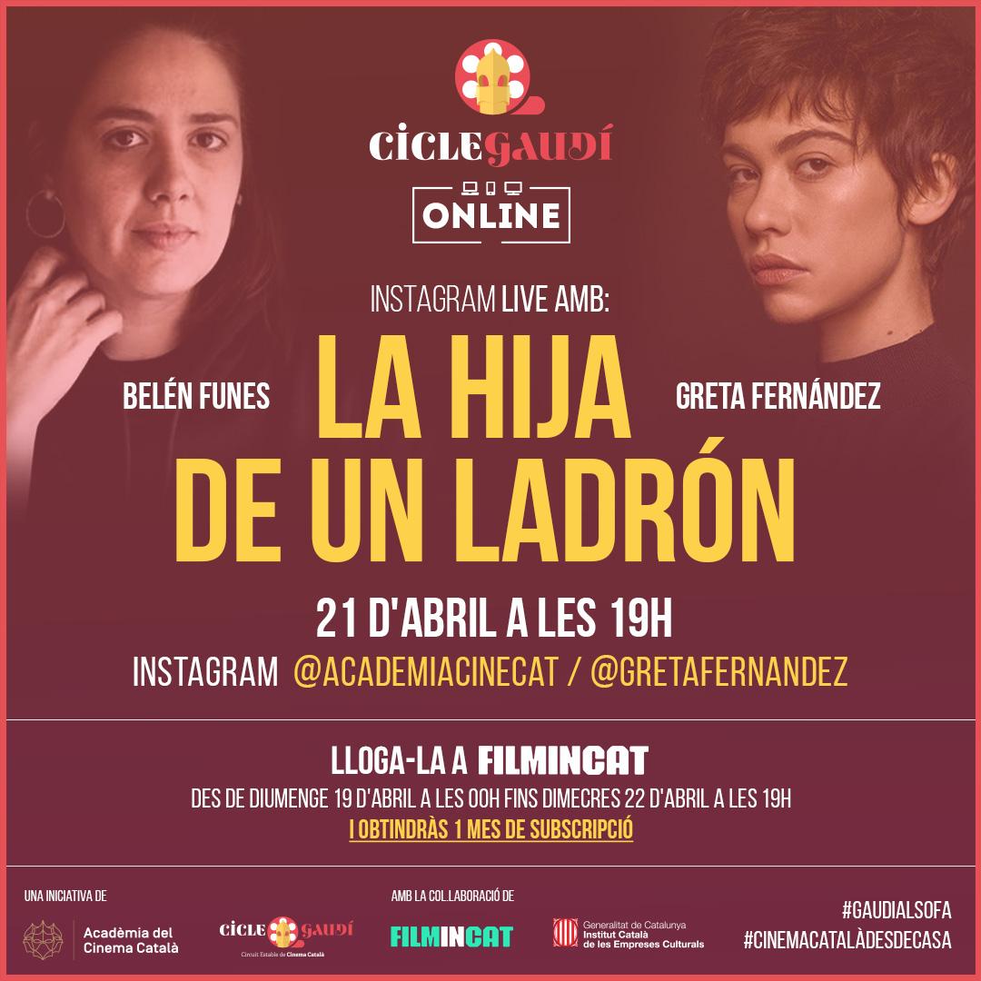 Les pel·lícules del Cicle Gaudí es podran veure en línia a través de www.filmin.cat mentre duri el confinament