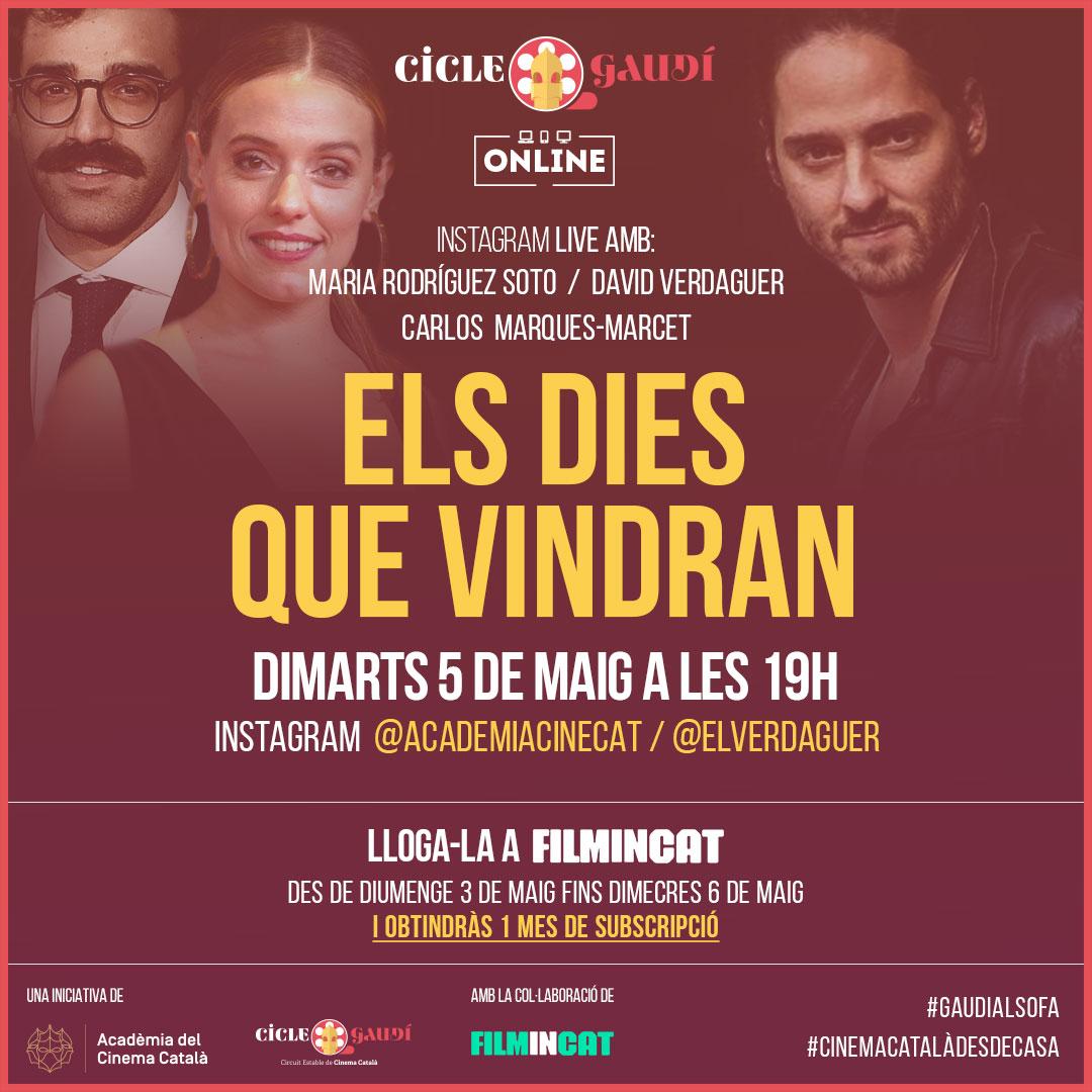 Del 3 al 6 de maig podreu veure la pel·lícula 'Els dies que vindran' del Cicle Gaudí a www.filmin.cat