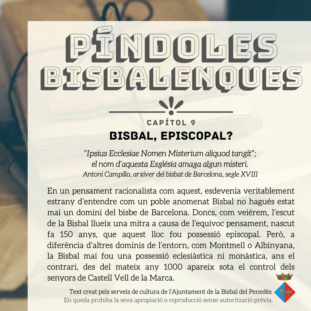 Nou capítol de les 'Píndoles Bisbalenques': l'origen del nom de la 'Bisbal'
