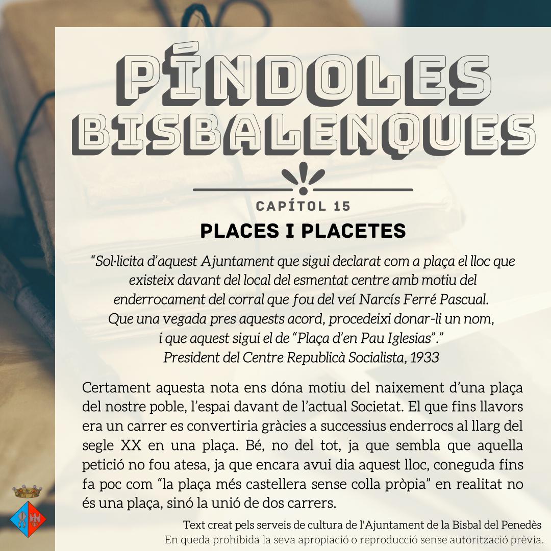 Nova entrega de les Píndoles Bisbalenques: les places
