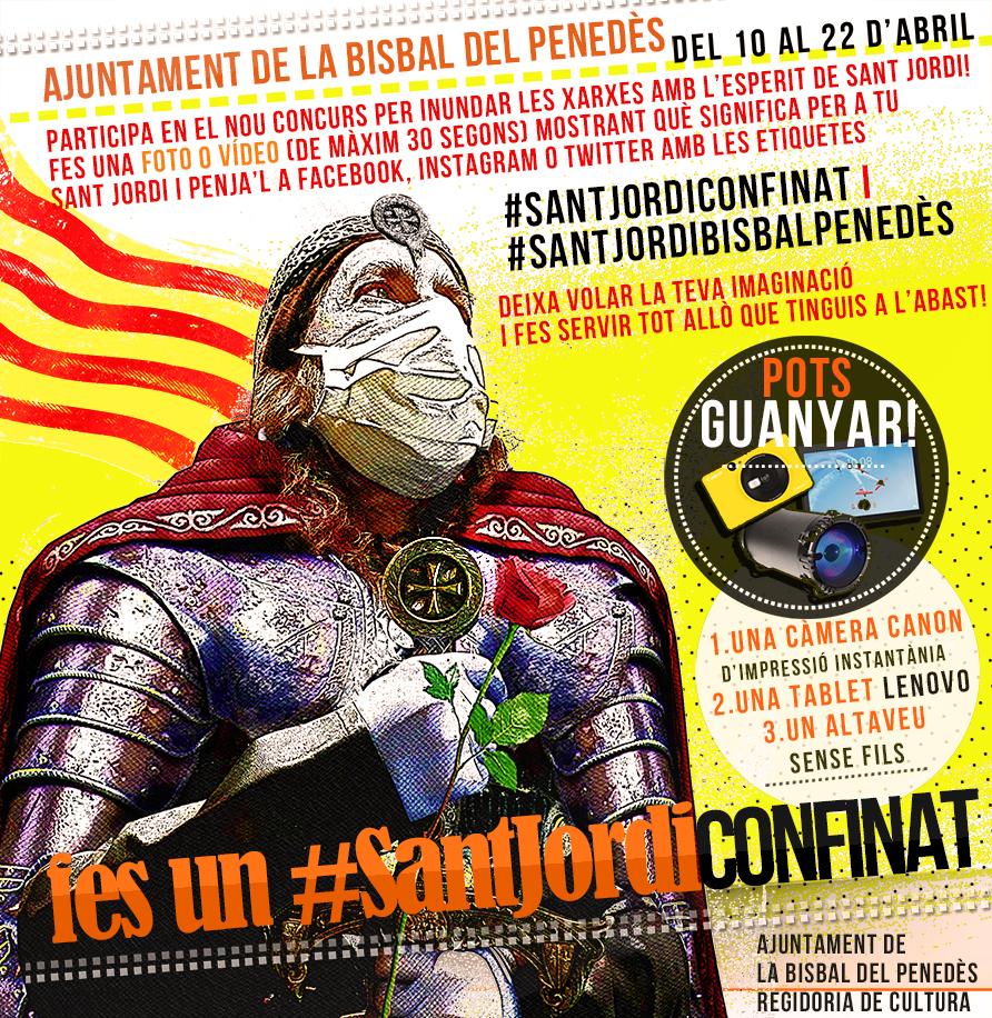 L'Ajuntament de Bisbal del Penedès ajorna els actes de Sant Jordi i engega un concurs de fotografies i vídeos relacionats amb Sant Jordi a les xarxes socials