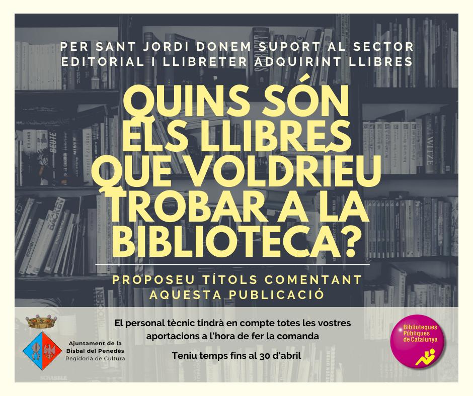La Biblioteca pública de la Bisbal del Penedès dona suport al sector editorial i llibreter amb l'adquisició de nous llibres