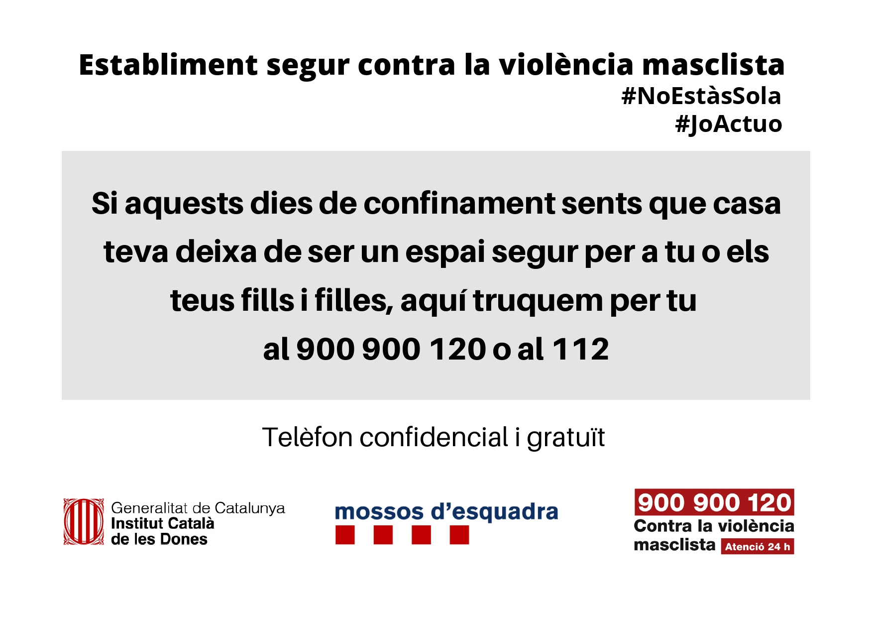 Es reforça l'atenció a les dones víctimes de violència masclista durant el confinament