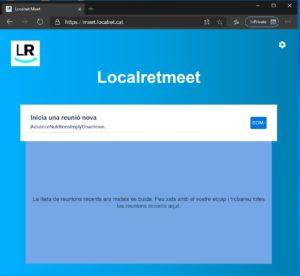 L'Ajuntament s'adhereix al servei LocalretMeet per poder celebrar les sessions dels òrgans col·legiats per videoconferència