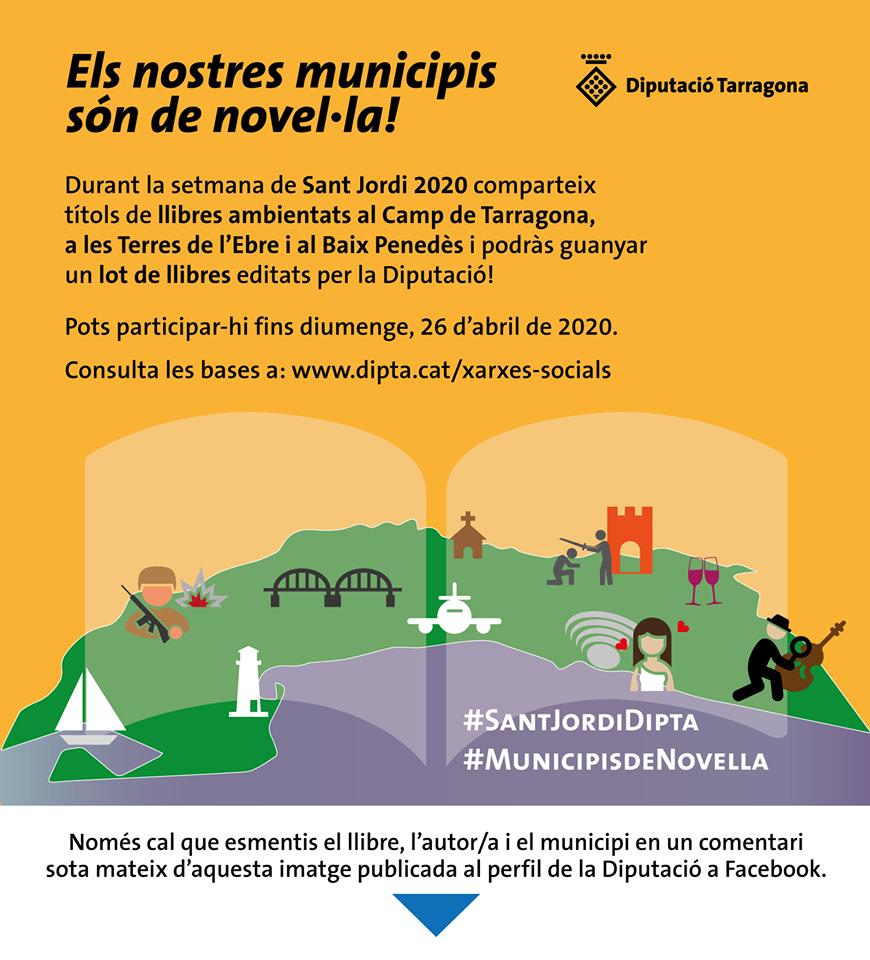 La Diputació de Tarragona promou un concurs sobre novel·les que parlen del Baix Penedès, el Camp de Tarragona i les Terres de l'Ebre