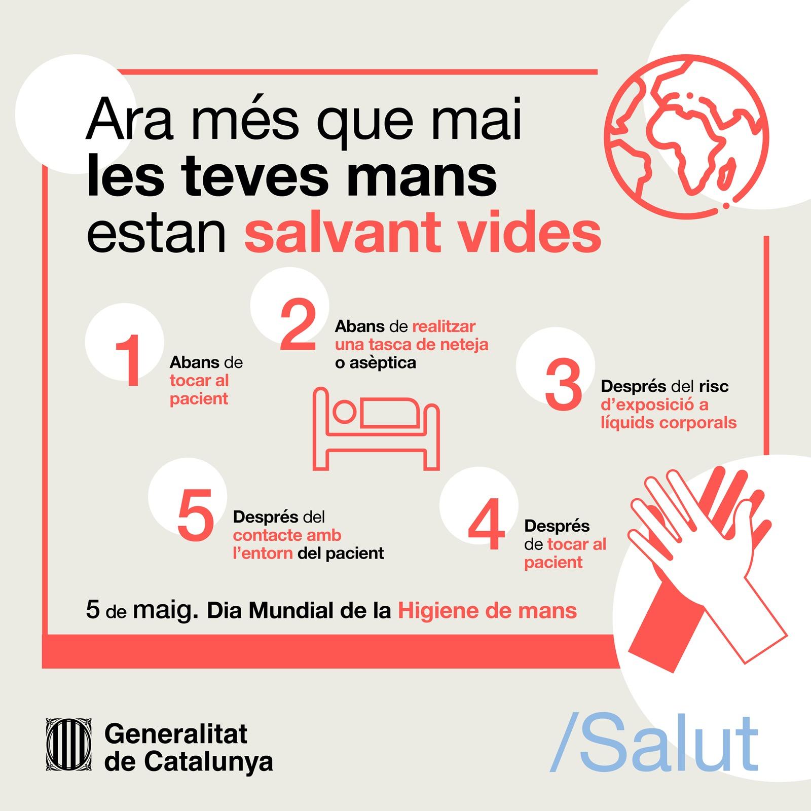 Avui 5 de maig és el Dia Mundial de la Higiene de Mans