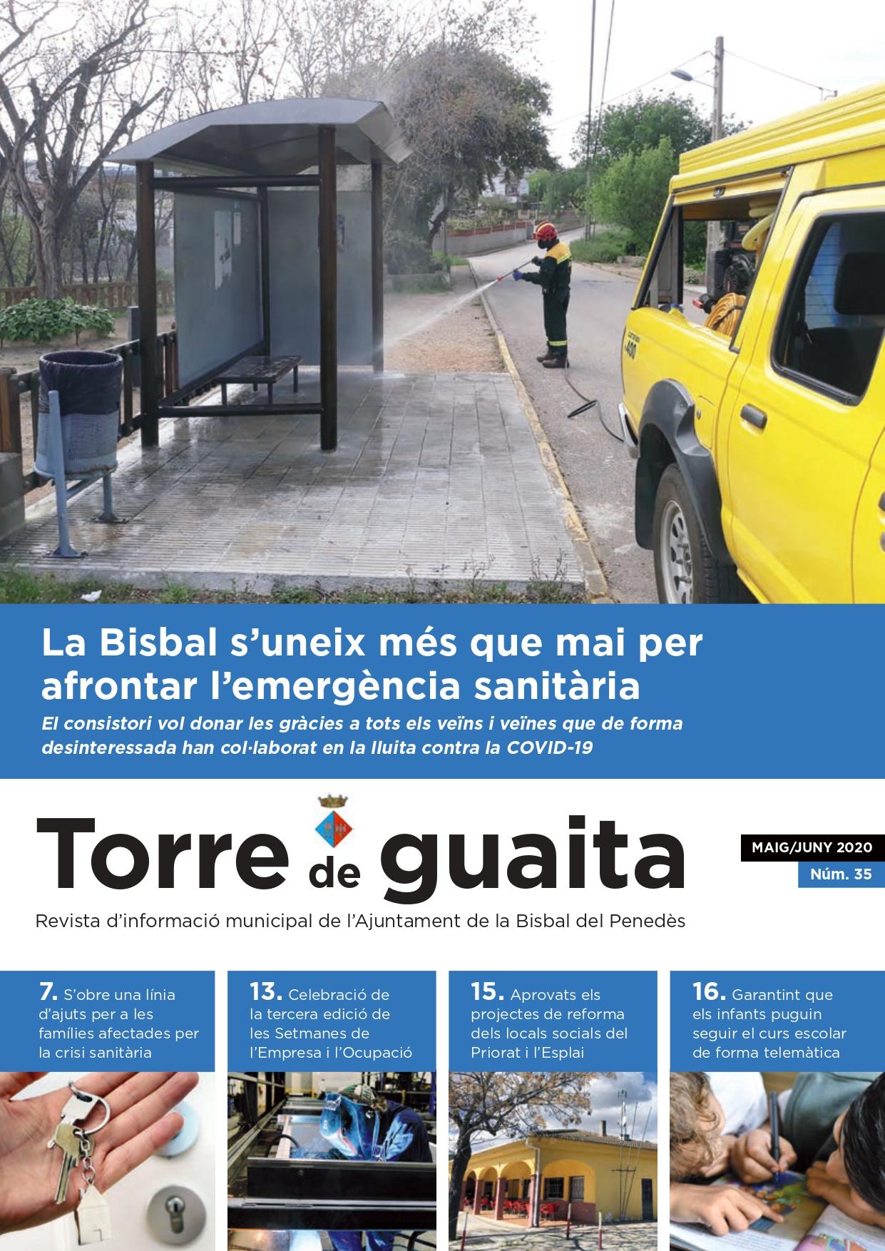 Ja ha sortit al carrer l'edició dels mesos de maig i juny de la revista municipal Torre de Guaita