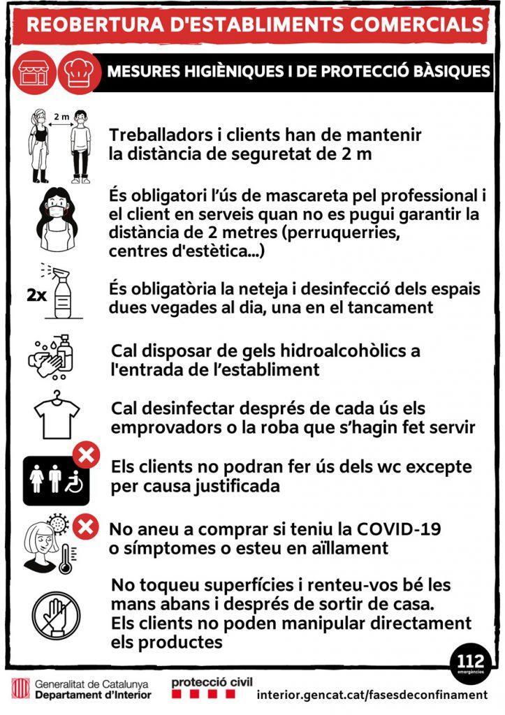 mesures higiene i proteccio en establiments comercials