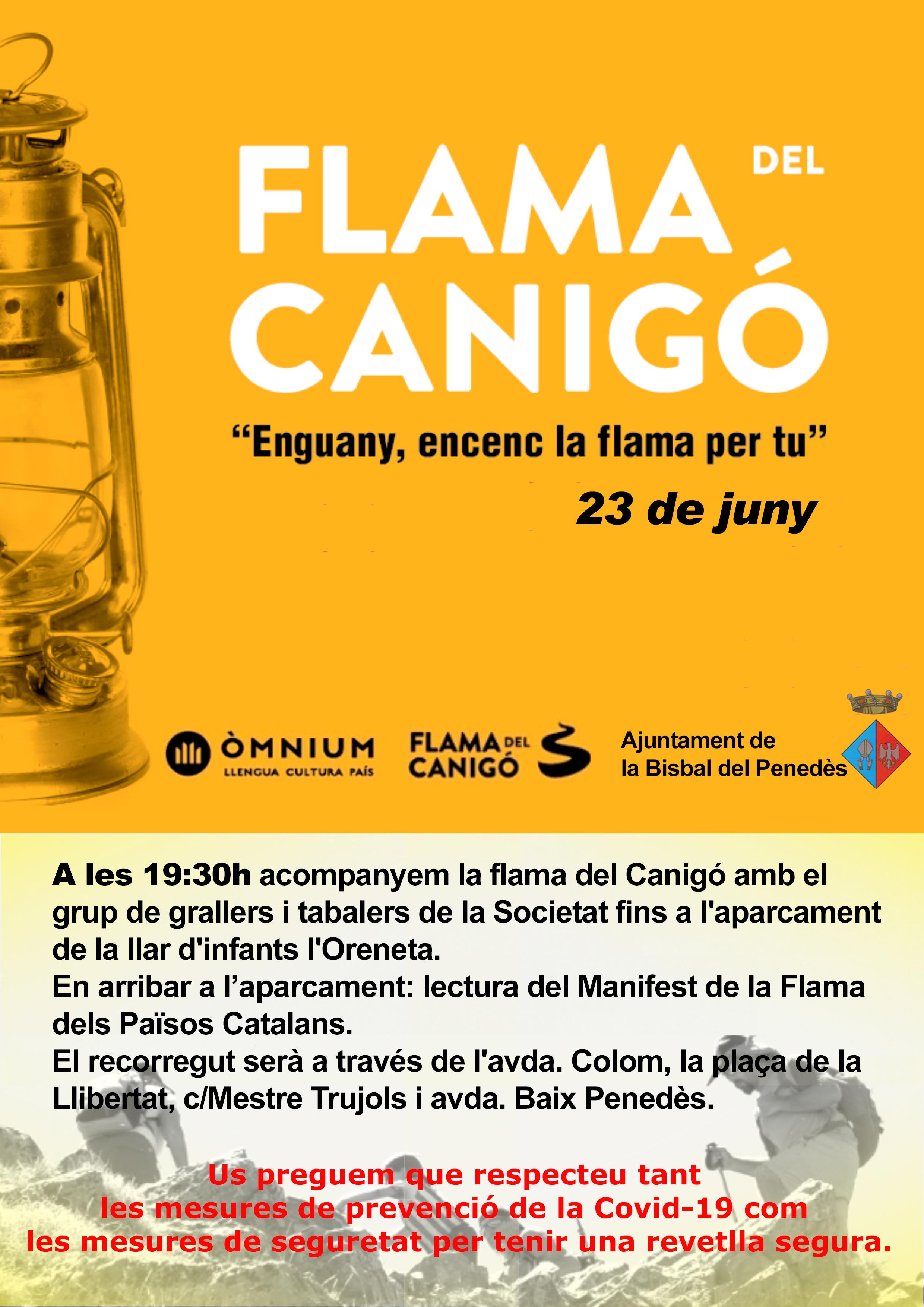 Aquest dimarts 23 de juny arriba la Flama del Canigó a la Bisbal del Penedès