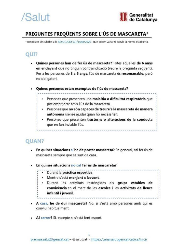 FAQS MASCARETA 1