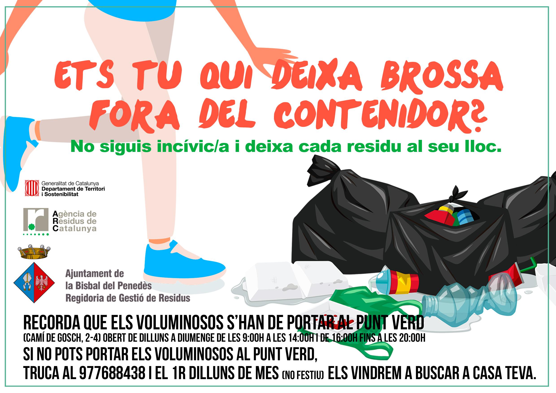 L'Ajuntament de la Bisbal inicia una campanya per promoure un bon ús de les illes de contenidors