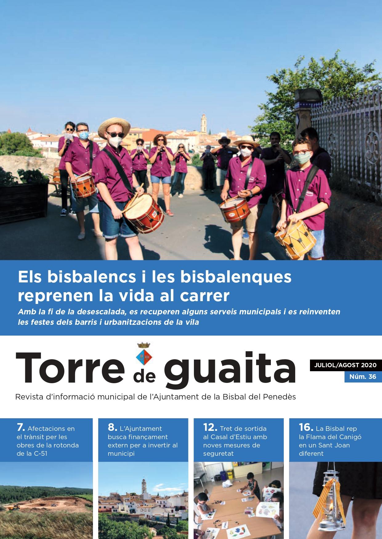Ja s'ha publicat l'edició dels mesos de juliol i agost de 2020 de la revista municipal Torre de Guaita
