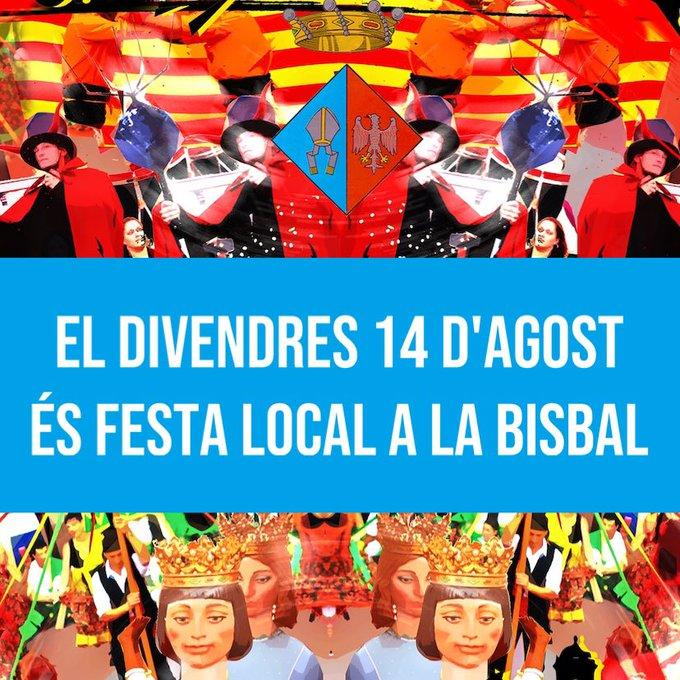 Aquest divendres 14 d'agost és festa local a la Bisbal