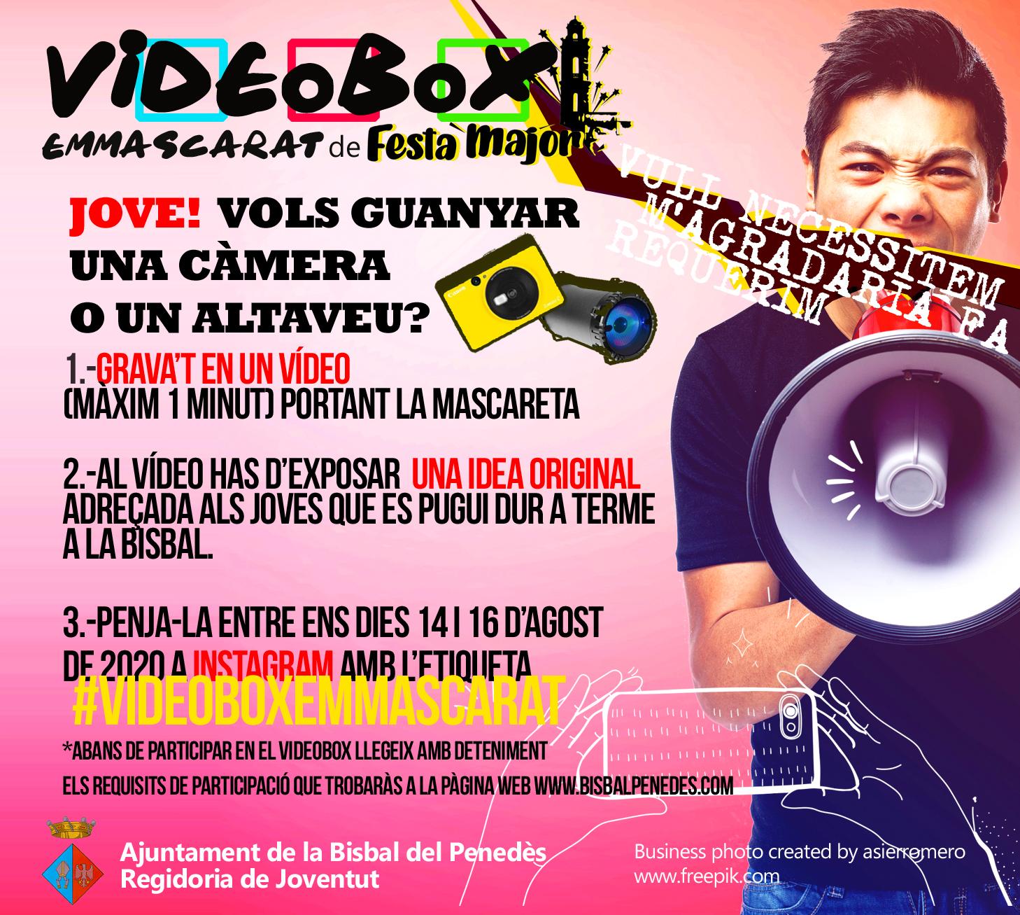 Jove! Vols guanyar una càmera Polaroid o un altaveu portàtil? Doncs participa en el Videobox Emmascarat!