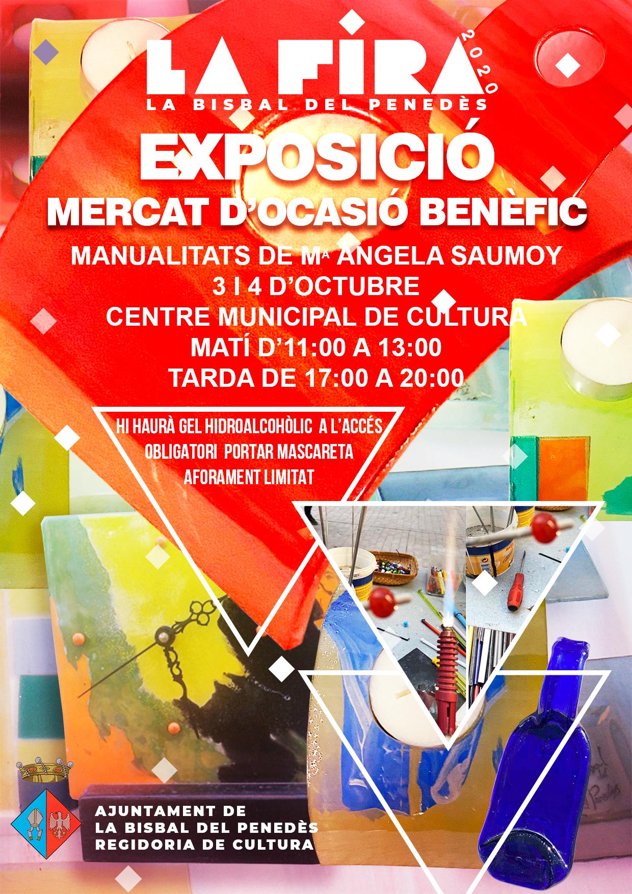 El CMC acull un mercat benèfic/exposició amb manualitats de l'artesana Ma. Àngela Saumoy aquest cap de setmana