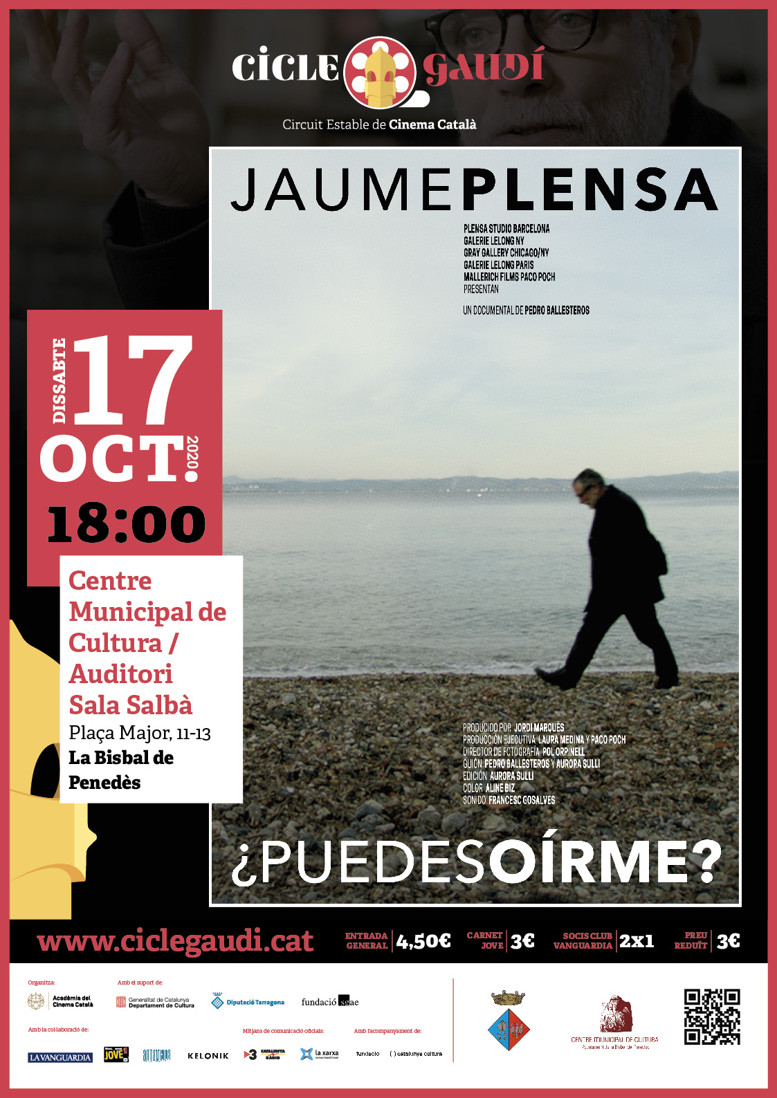 Cicle Gaudí: Avui dissabte a les 18h projecció del documental ¿Puedes oírme? al CMC