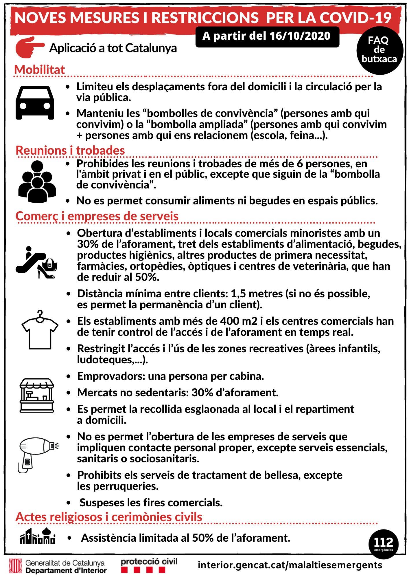 ACTUALITZACIÓ | Totes les mesures proposades pel govern de la Generalitat han estat autoritzades