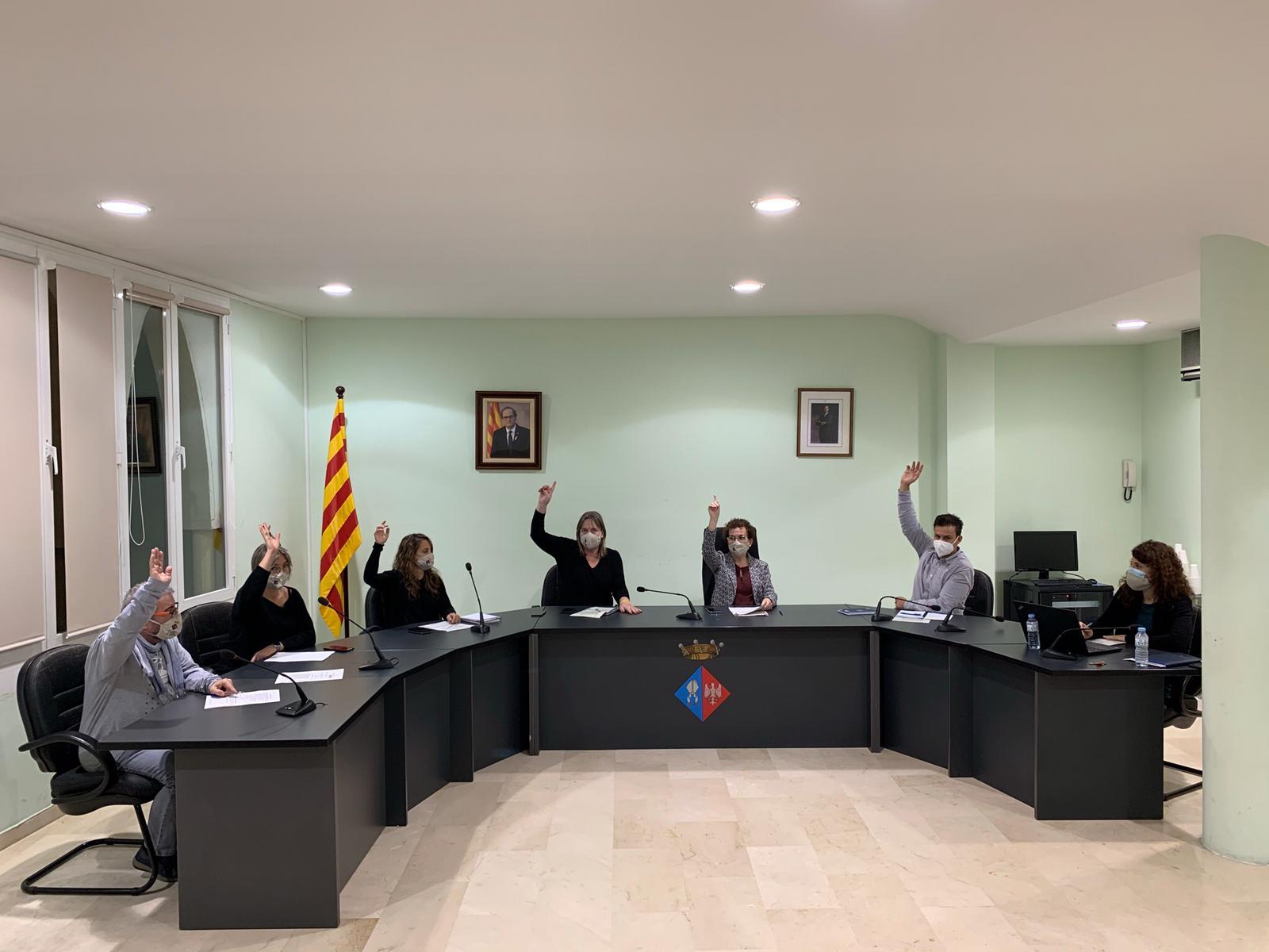 Aquest dilluns s'han aprovat quatre punts de la Junta de Govern amb competències delegades del Ple