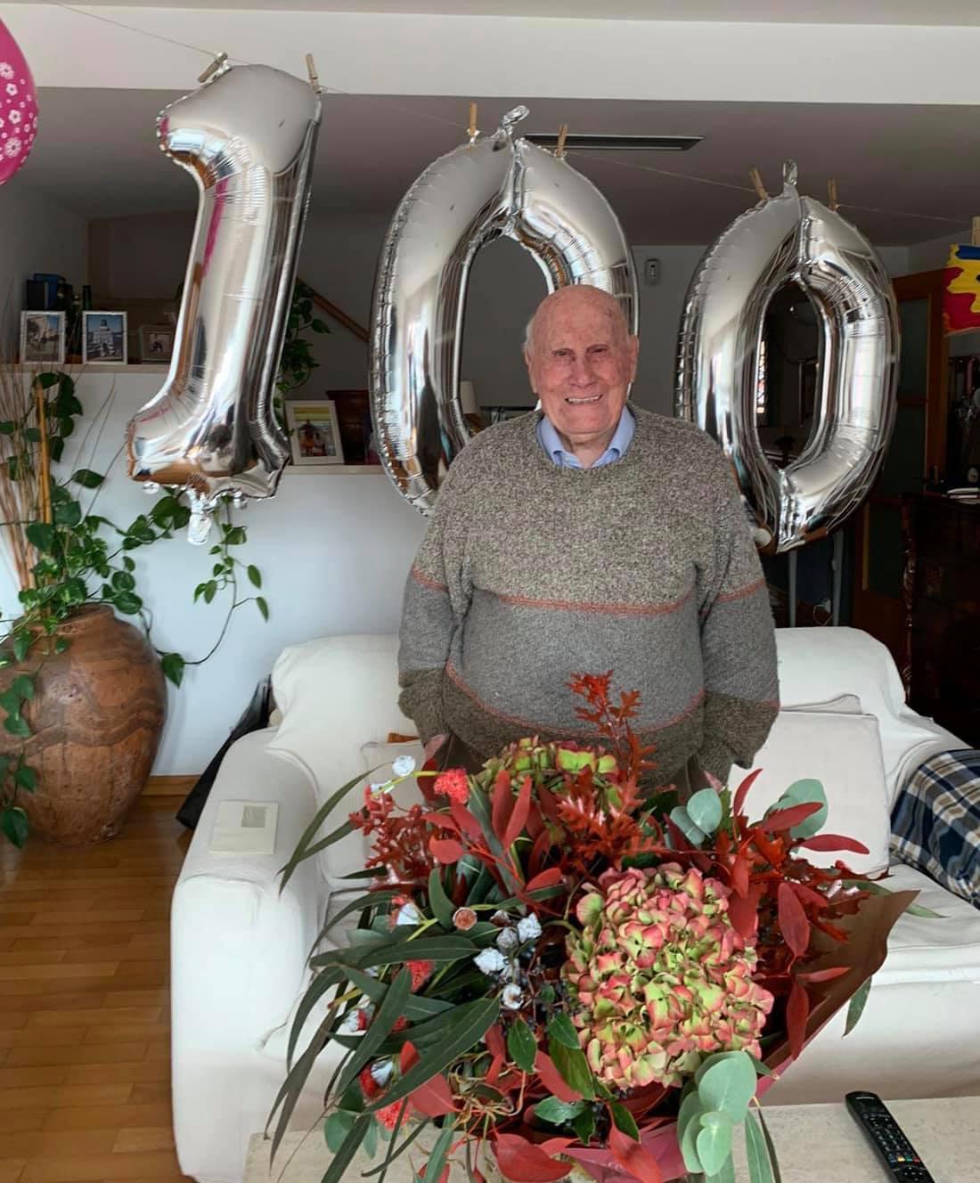 El bisbalenc Jaume Calbet i Solé ha fet 100 anys avui dimecres 18 de novembre
