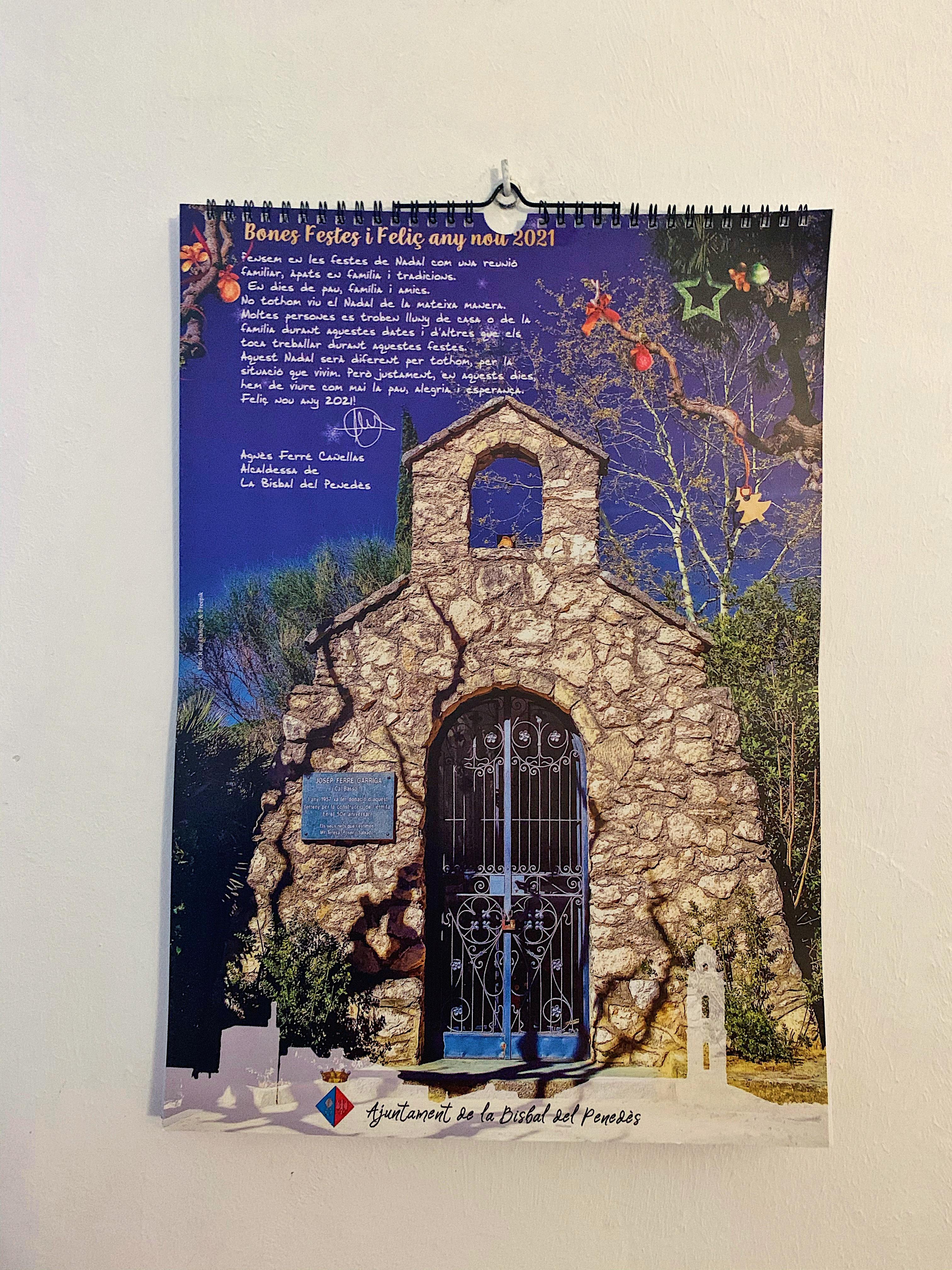 Ja podeu recollir el calendari 2021 per l'Ajuntament. Enguany les fotografies són del municipi i les ha fet el bisbalenc Raúl Gallego.