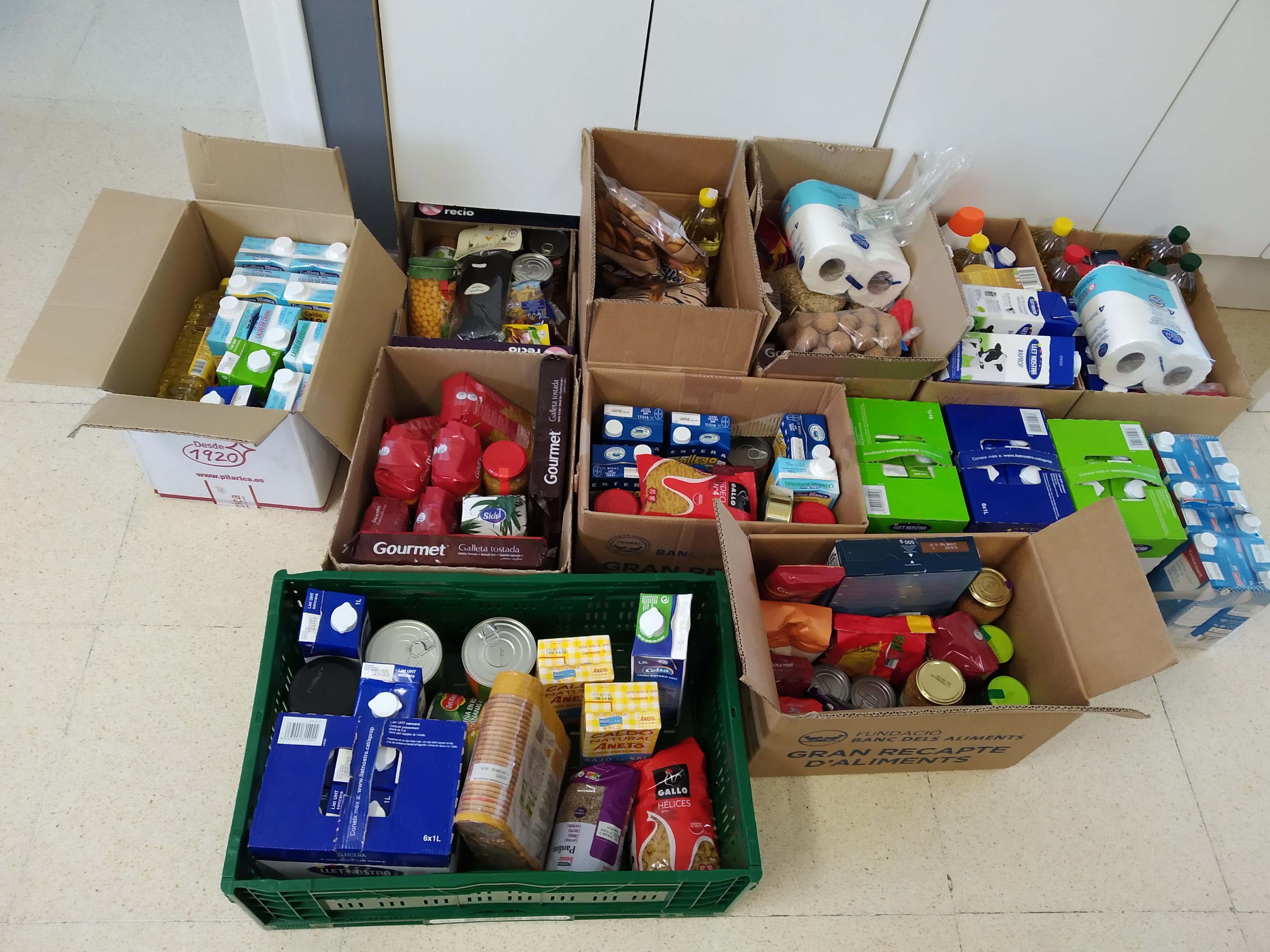 Agraïment per les donacions que heu fet en el marc del Gran Recapte dels Aliments