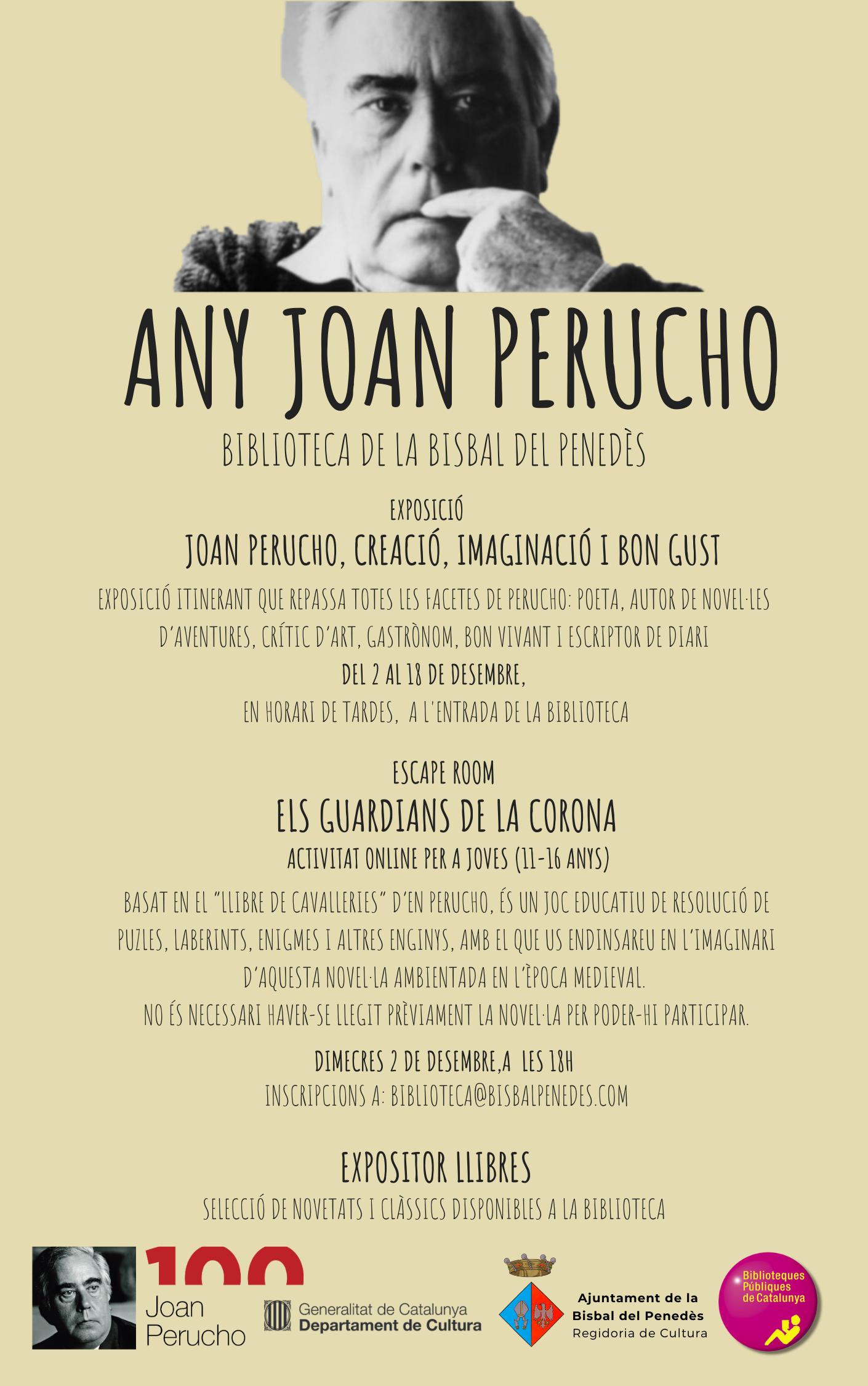 La Biblioteca pública ha organitzat diverses activitats en el marc de l'Any Joan Perucho