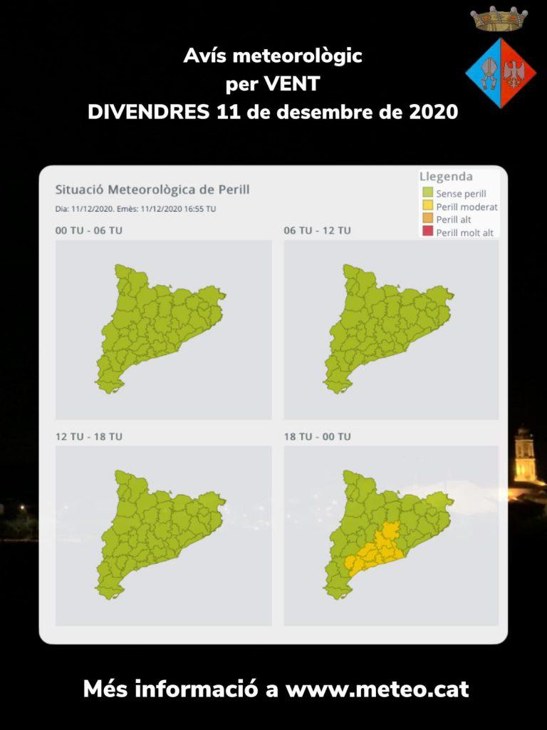 AVIS VENT DIVENDRES 11 DESEMBRE 2020