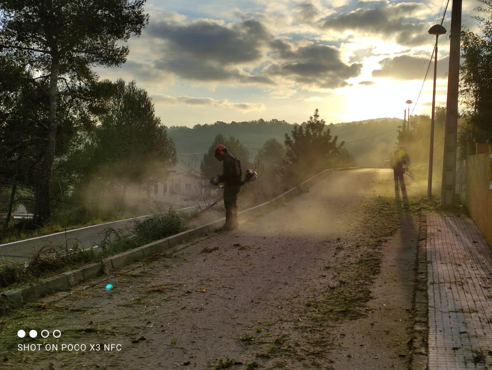 Es continuen realitzant treballs de desbrossament al municipi en el marc de l'estudi per avaluar les necessitats de desbrossament i neteja a tot el municipi