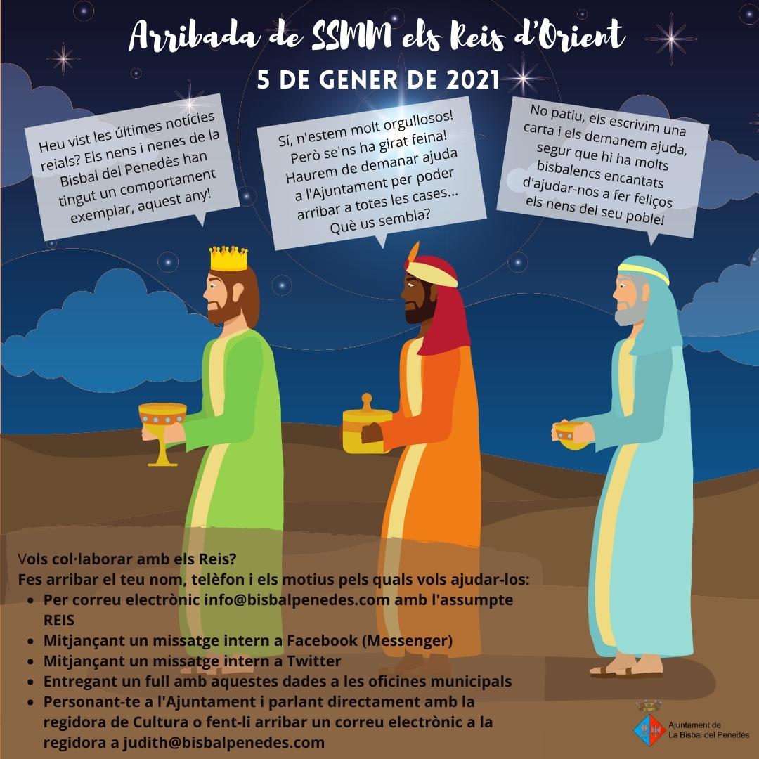 Voleu col·laborar amb els Reis d'Orient?