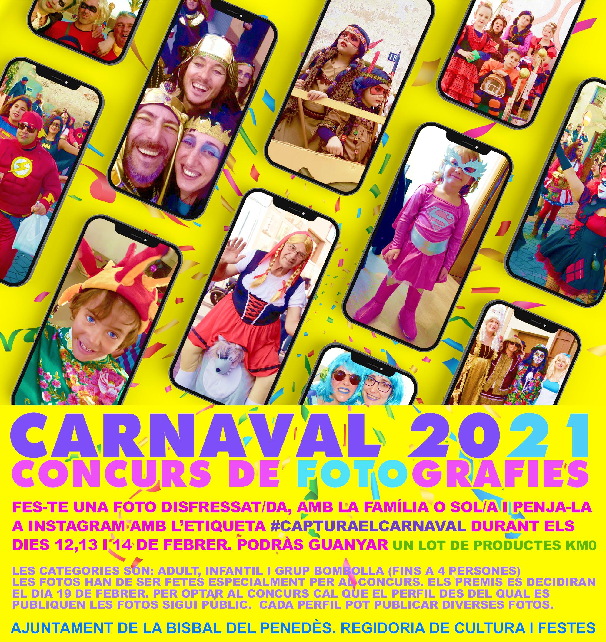Aquests són els premis del Concurs de fotografia d'Instagram del Carnaval 2021