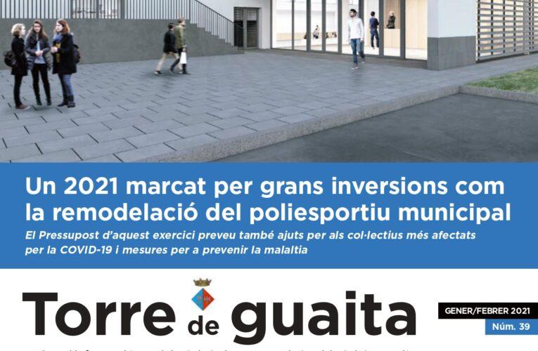 Ja està disponible l'edició de gener i febrer de 2021 de la Revista municipal Torre de Guaita