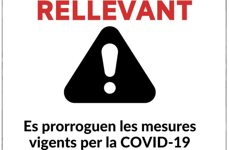 Es prorroguen les mesures vigents per frenar la propagació de la COVID-19 fins al 9 d'abril