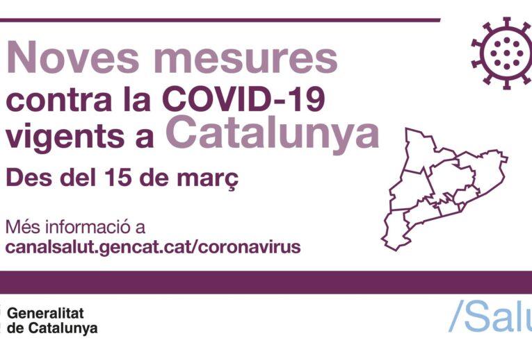Mesures vigents per frenar la propagació de la COVID-19 (fins al 29 de març a les 00h)