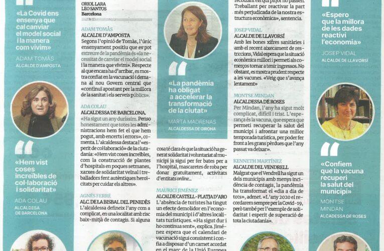 El Periódico de Catalunya ha dedicat un article a parlar de la gestió de la COVID-19 als municipis catalans, entre ells, La Bisbal del Penedès