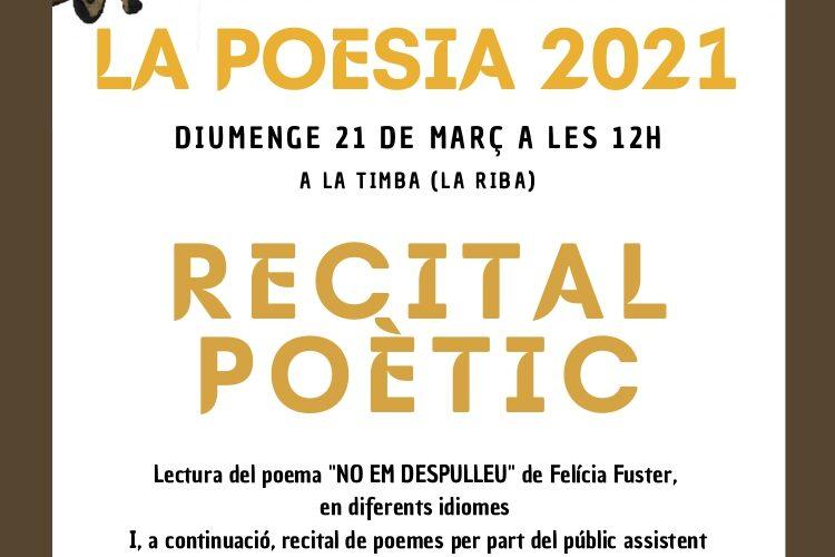 Vine a recitar el Dia Mundial de la Poesia 2021 – 21 de març a les 12h a la Timba