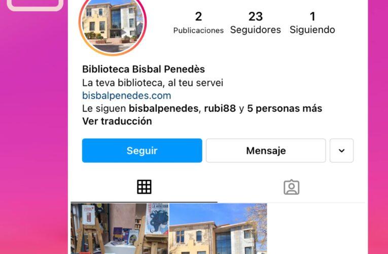 Nou perfil d'Instagram de la Biblioteca pública de La Bisbal del Penedès
