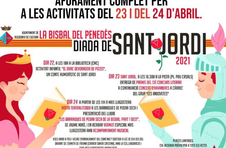 Sant Jordi 2021: les activitats dels dies 23 i 24 d'abril estan exhaurides